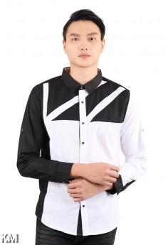 Dual Tone Smart Shirt [M18137]