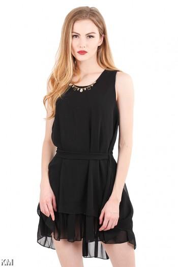Round Neckline Lady Dress [M463]
