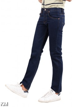 Navy Blue Regular Fit Jeans [M22087]
