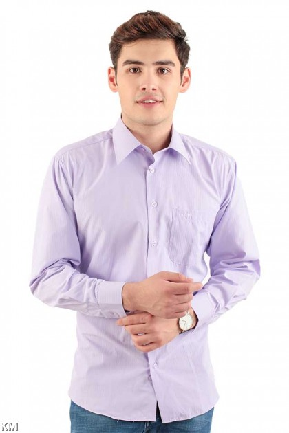 Striped Long Sleeve Formal Shirt [M20996]