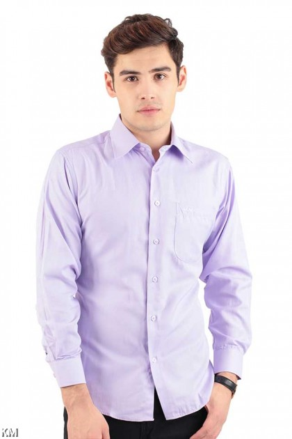 Classic Solid Long Sleeve Formal Shirt [M20997]