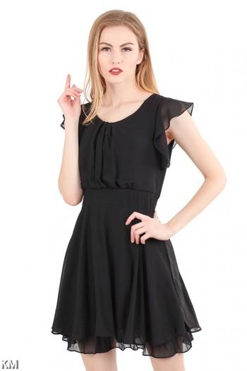 Butterfly Sleeve Lady Dress [M464]