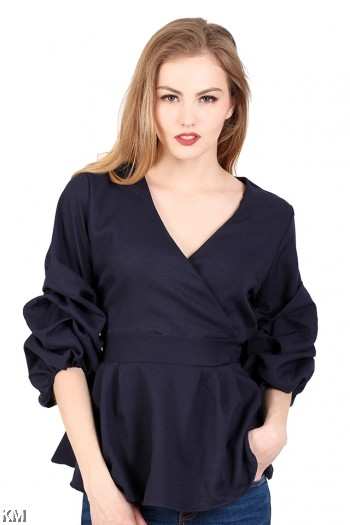 Women Bishop Sleeves Top [M287]