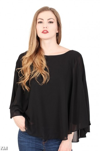 Flared Sleeves Women Top [M23044]