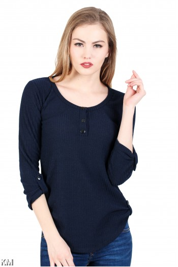 Solid Knitting Top [M931]