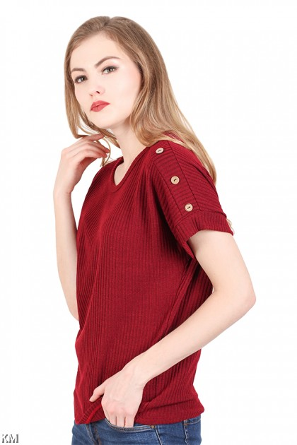 Casual Knit Top [M937]