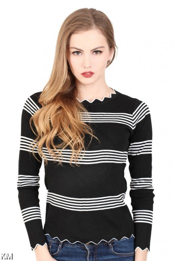 Lines Knitting Top [M23014]