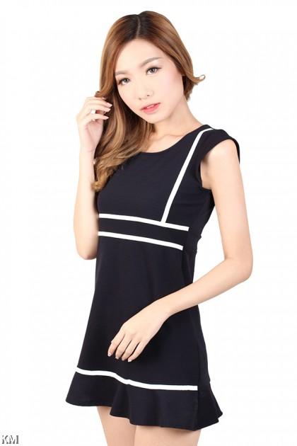 Lines Mini Dress [M441]