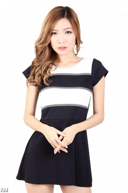 Two Tone Mini Dress [M456]