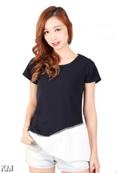 Lady Cut-Off Blouse [M459]