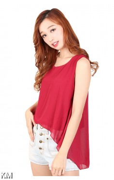Layered Sleeveless Top [M417]