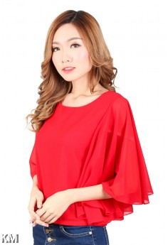 Cape Sleeves Blouse [M423]