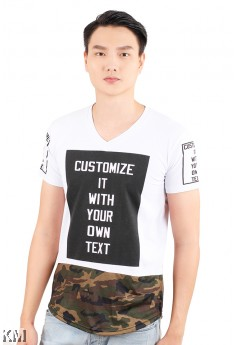 Half Cut Camouflage Top [M21539]
