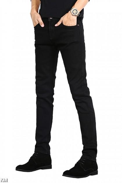 Male Slim Fit Black Jeans [M33032/2018]