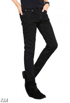Male Slim Fit Black Jeans [M33032/2018]