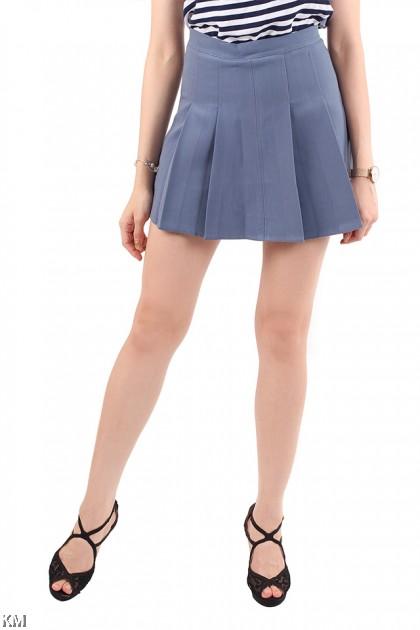 Peplum Classic Skater Skirt [M18214]