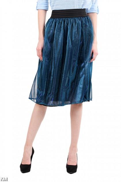 Metallic Flared Skirt [M21874]