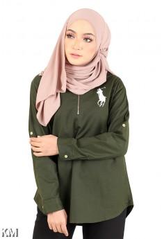 Front Zip Shirt [M267]