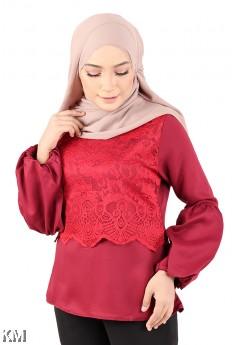 Half Lace Muslimah Blouse [M23240]