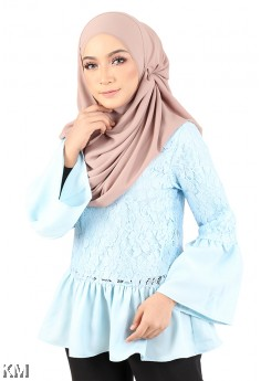 Muslimah Bell Sleeves Blouse [M23246]