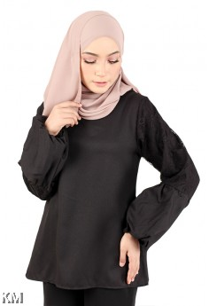 Cuff Sleeves Muslimah Blouse [M23247]