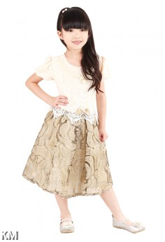 Kids Floral Party Dress [M18171]