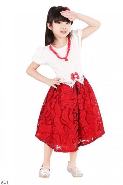 Kids Floral Party Dress [M18171]