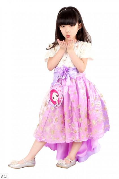 Kids Princess Dress with Sling Bag [M18180]