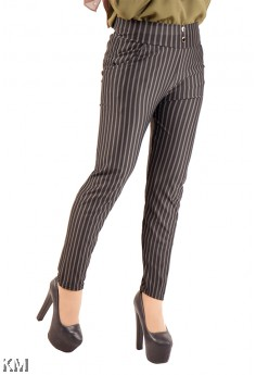 Women Striped Casual Pants [M13997]