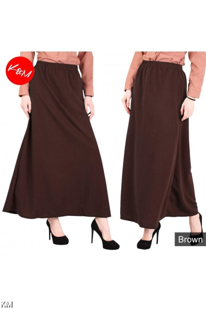A Line Elastic Maxi Skirt [M14044]