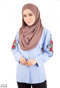 Rosy Muslimah Blue Shirt [M14155]