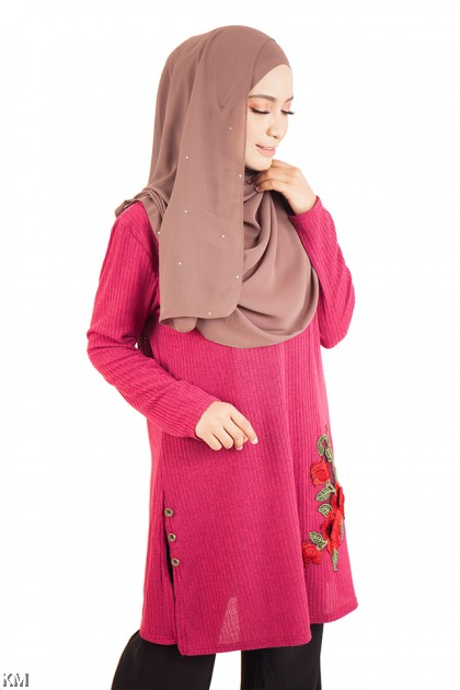 Embroidered Long Top [M14151]