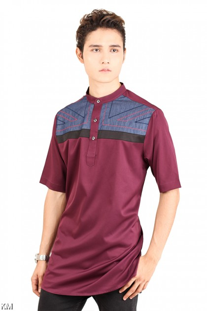Short Sleeves Button Up Kurta [M12066]