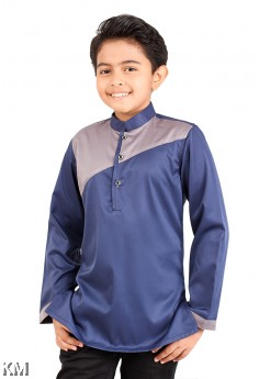 Kids Inclined Cut Kurta [M12048]