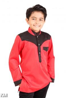 Hazim Contrast Kids Kurta [M12061]