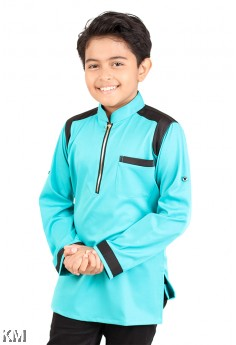 Kids Yusof Kurta Zipper [M14499]