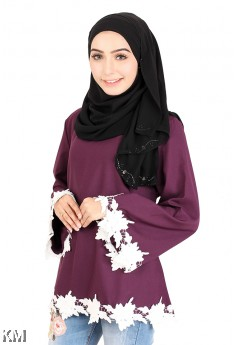 Self Pattern Muslimah Blouse [M14227]
