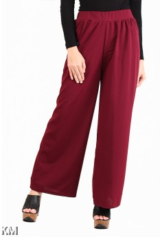 Solid Flare Fit Palazzo [M15514]