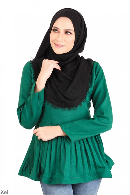 Muslimah Urban Peplum Blouse [M783]