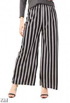 Black And White Striped Culottes [M14043]