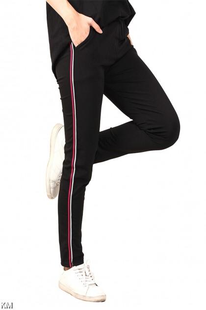 Black Sporting Track Pants [M14377]