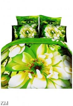 5D Printed Queen Bed Sheet [M8362]