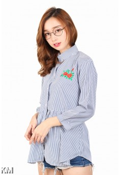 Women Chest Embroidered Shirt [M2941]