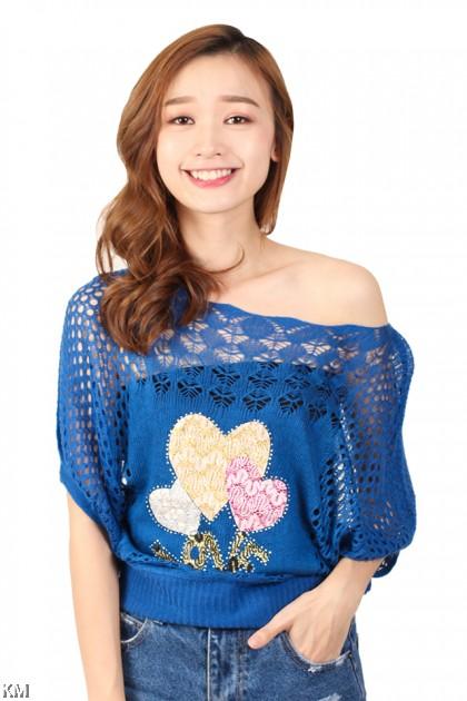 Women Funnel Knit Top [M8119]