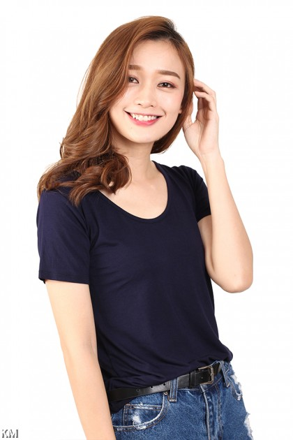 Comfort Solid Casual T Shirt [M12150]