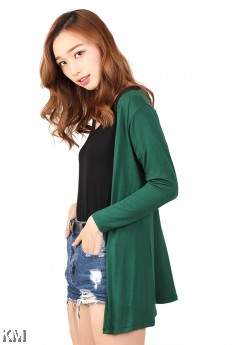 Women Soft Solid Cardigan [M12152]
