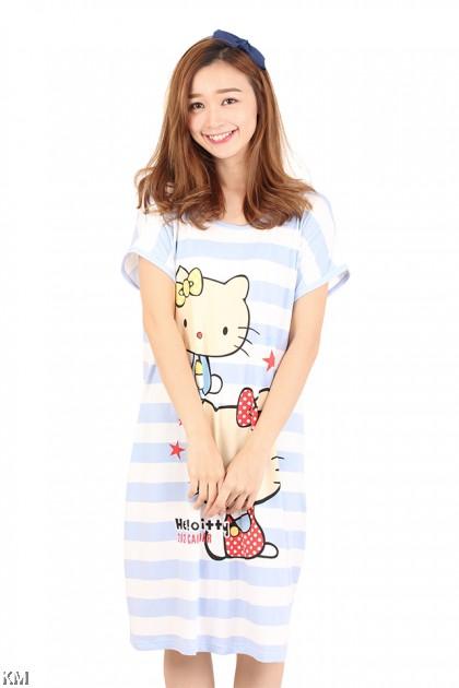 Hello Kitty Striped Sleep Dress [M1163]