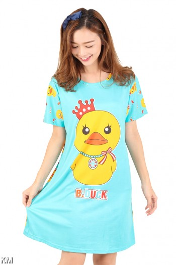 Baby Duck Printed Sleeping Dress [M1166]