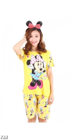 Printed Short Sleeves Loungewear [M14678]