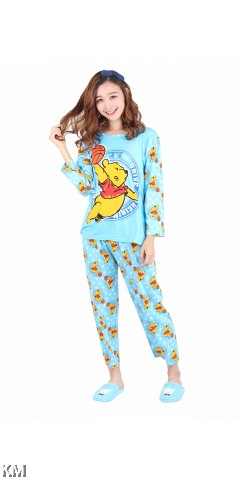 Printed Long Sleeves Loungewear [M14713]